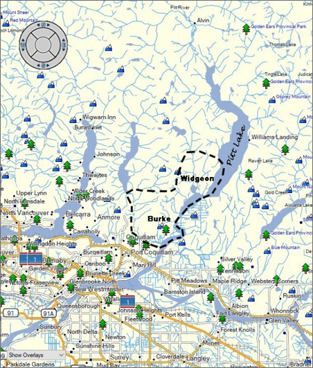 Burke and Widgeon map